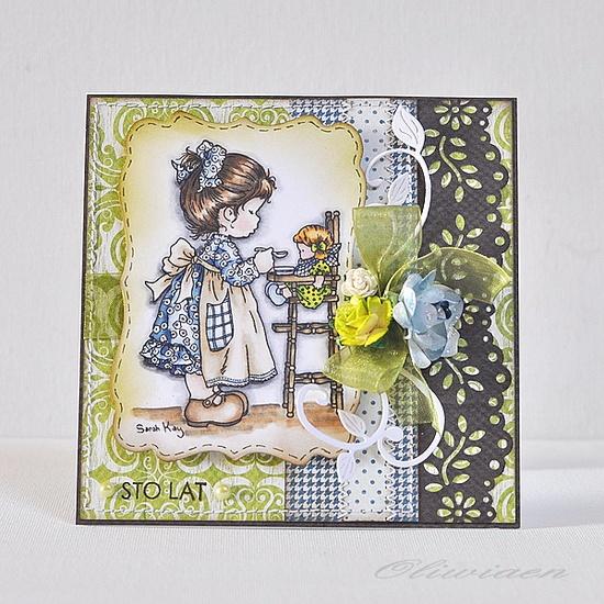 Tremendously sweet, beautiful, wonderfully designed card. #card #handmade #birthday #crafts #card_making #scrapbooking #cute