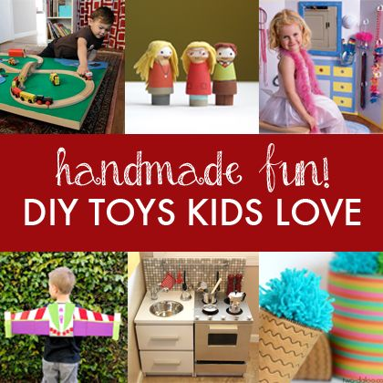 Handmade Fun!  10 DIY Toys for Kids  - These awesome handmade gifts are sure to fuel hours of imaginative play!