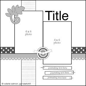 Scrapbook layout 1