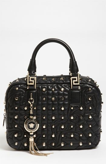 Versace 'Vanitas - Small' Leather Satchel available at #Nordstrom