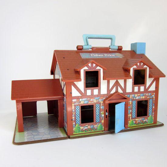 Fisher Price Tudor home, c. 1980