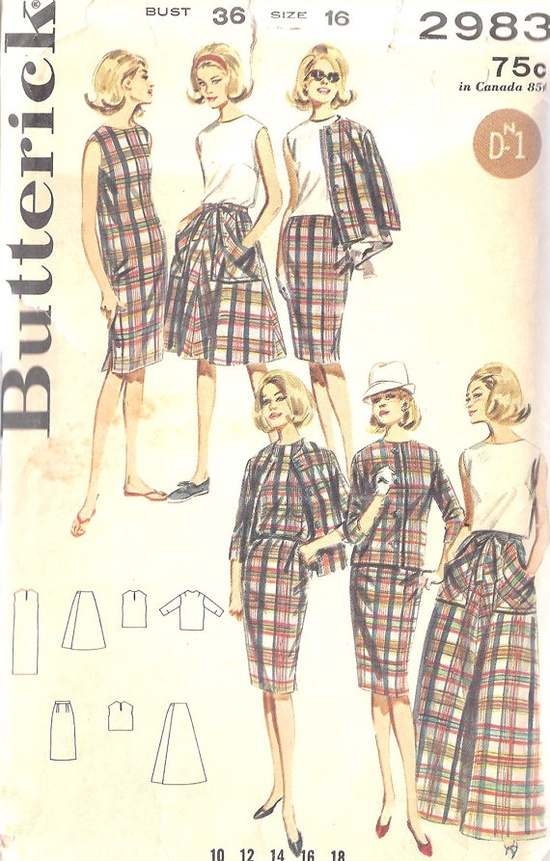 1960s Misses Dress Blouse Skirt and Jacket