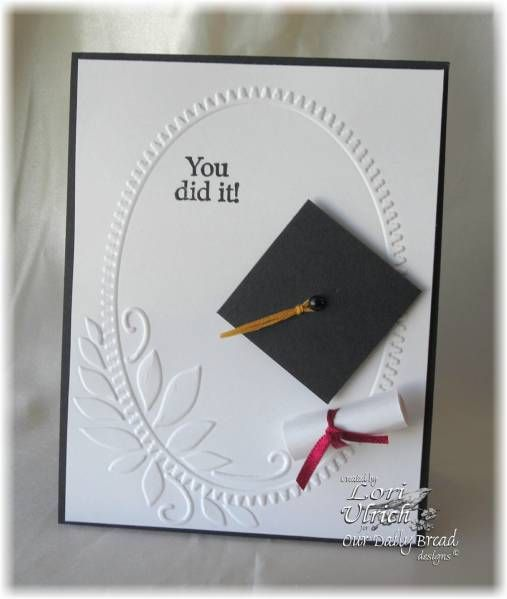 clean and simple graduation card