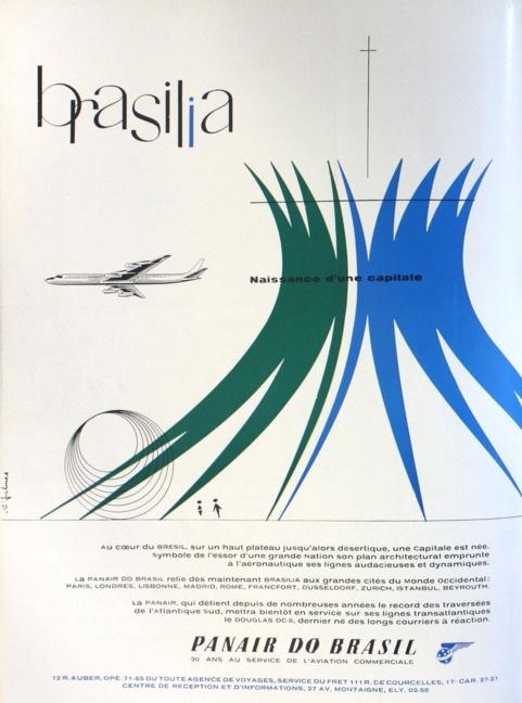 Brasilia * PanAir do Brasil #travel #poster 1960s