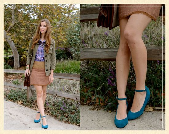 blue shoes, fall style