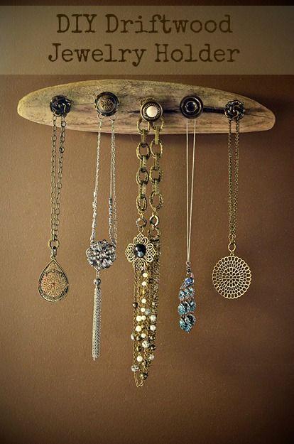 DIY Driftwood Jewelry Holder