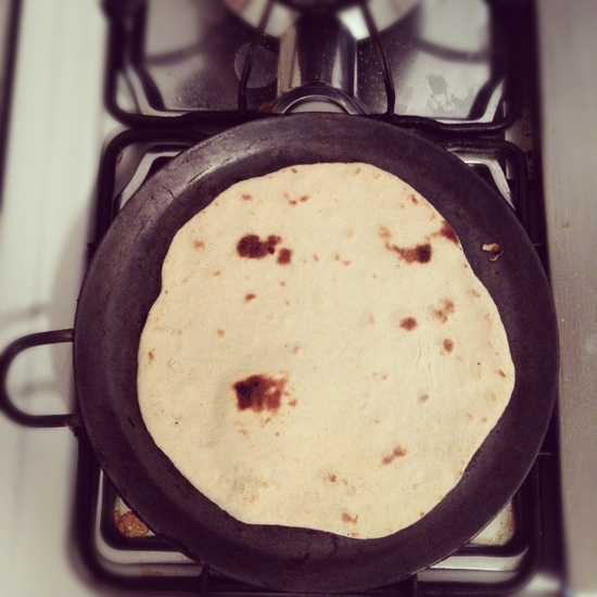 Nothing  smells as good as a handmade tortilla on a comal.