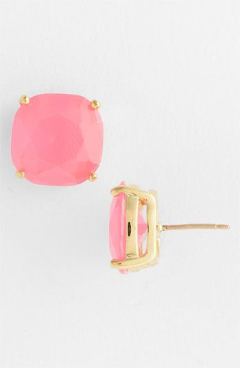 kate spade new york stud earrings | Nordstrom Rounded squares front post-back earrings with faceted twinkle. kate spade new york stud earrings