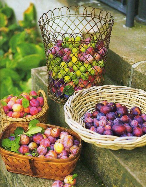Baskets of fruit....