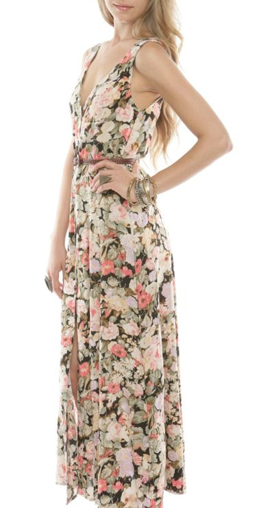 boho floral maxi - wear with booties +  belt