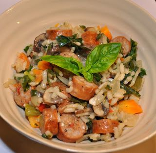 Dental Health-foods and nutrition advice from Altman Dental: Risotto With Lowfat Chicken Sausage