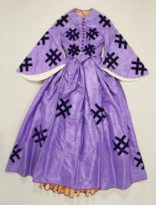 27-10-11  Dress  Date: ca. 1861  Culture: American  Medium: silk