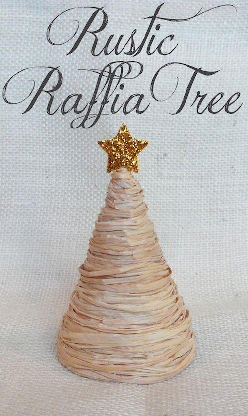 Rustic Raffia Tree #DIY