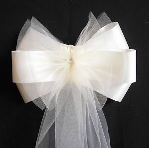Pew Bows #weddingdecorations