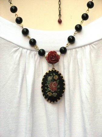 lovely needlepoint necklace.