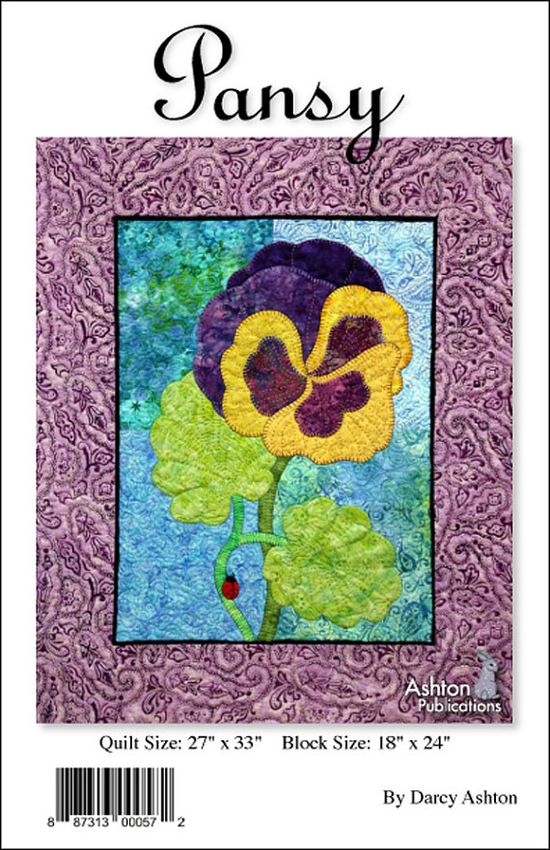 Pansy Applique Quilt