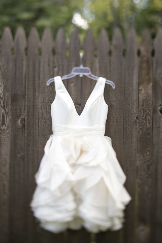 Perfect for a reception!     Ivy & Aster ruffled wedding gown // photo by LoveMeDoPhotograp...