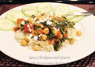 Spicy Chickpeas and Greens from @The Art of Cooking Real food