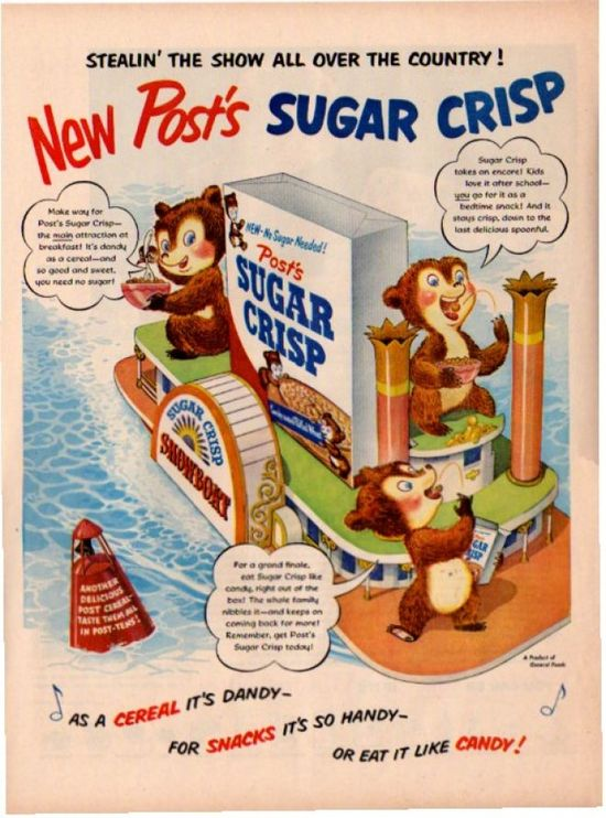 As a cereal it's dandy-for snacks it's so handy-or eat it like candy!