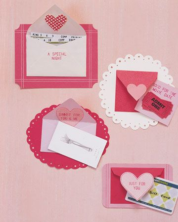 Cute DIY Valentine Cards via Martha Stewart.com