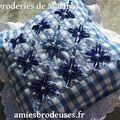 Coussinet bleu en br