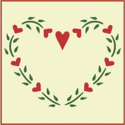 Heart Wreath Stencil | Gorgeous home decor and crafting stencil from The Artful Stencil! US Shipping in only 5 days. We ship all over the world.