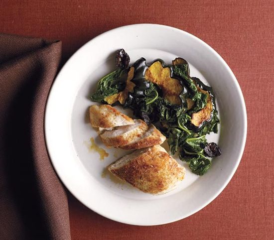 Moroccan Chicken With Kale and Roasted Squash Get the recipe: www.realsimple.co...
