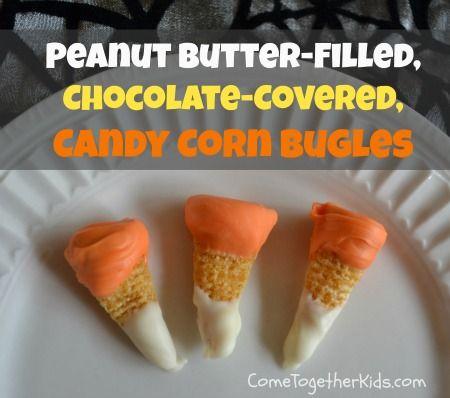 Chocolate Peanut Butter Candy Corn Bugles