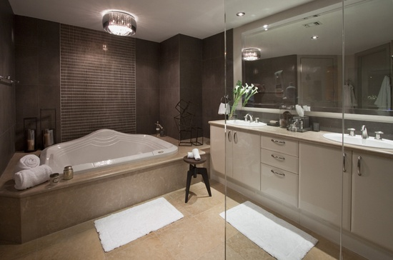 DKOR Interiors - clean modern bathroom design