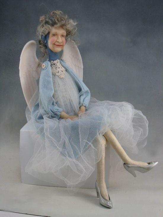 Grandma Angel, handmade doll by Dianne Adam