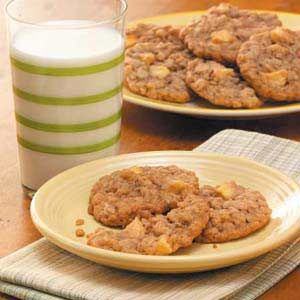 Chewy Apple Oatmeal Cookies Recipe from Taste of Home