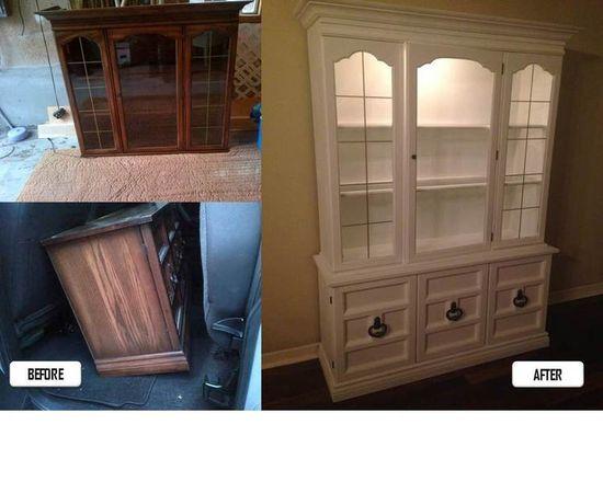 Refinishing antique furniture #diy #furniture #dining #antique #vintage www.stylebylu.com