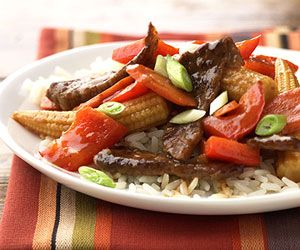 Take your taste buds on a trip around the world with this low-fat beef stir-fry packed with vegetables.