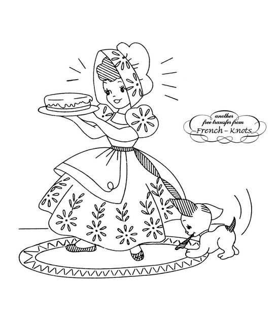 Vintage Sunbonnet Girls Embroidery Transfer Patterns