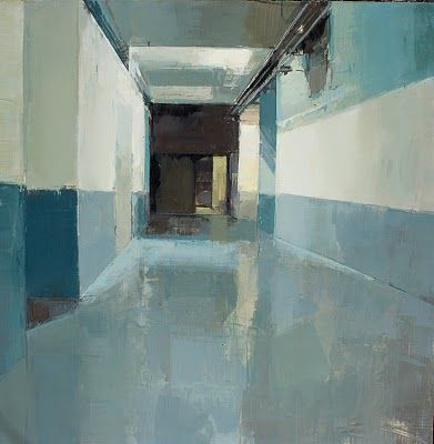 """""""seventh floor"""" interior painting by chelsea b james"""