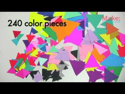 DIY: 3D geometric paper sculpture
