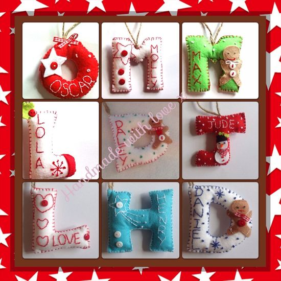 Personalised Christmas Decorations - The Supermums Craft Fair