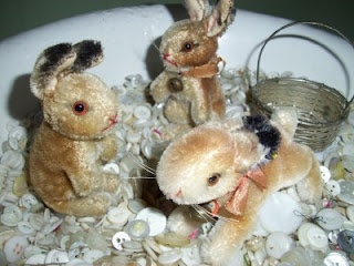 Steiff mohair rabbits from the 1940s/1950s