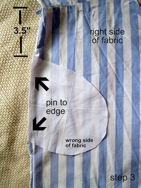 add pockets to any skirt or dress tutorial