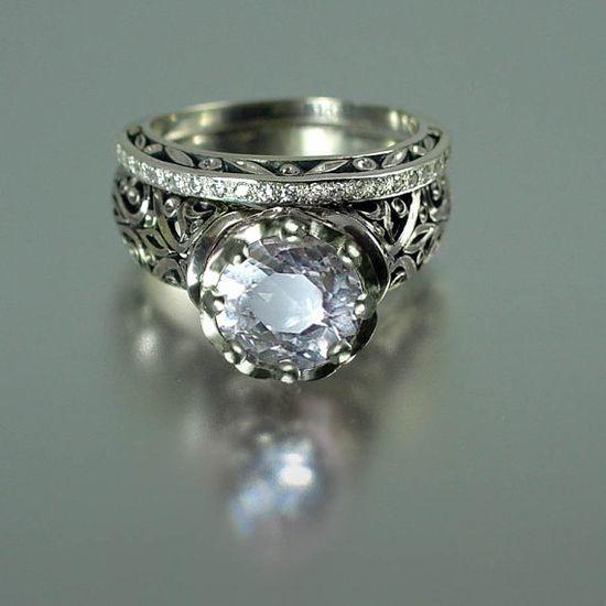 The ENCHANTED PRINCESS White Sapphire 14k gold