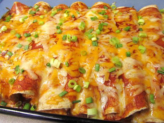 Cream Cheese Chicken Enchiladas - No joke: these were the best enchiladas I have ever made.