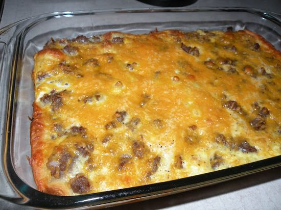 Breakfast Casserole-yummy breakfast casserole