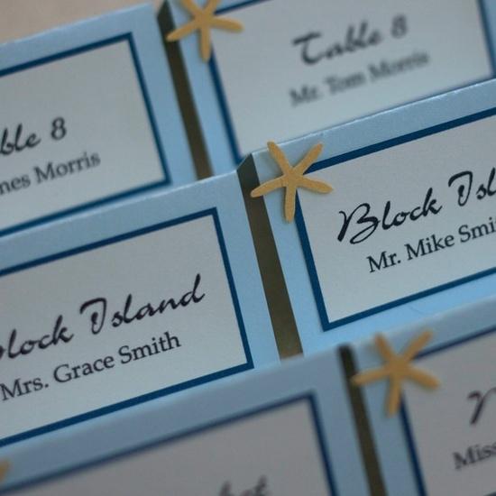 Starfish Escort Cards (Beach wedding)