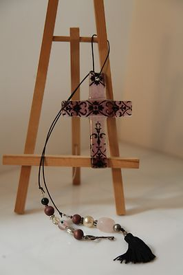 Hand Made Glass Cross.