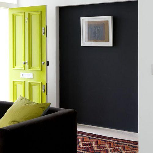 Matte black and bright green.