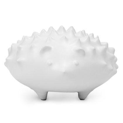 Hedgehog by Jonathan Adler: Made of stoneware with a matte white glaze. #Hedgehog #Jonathan_Adler