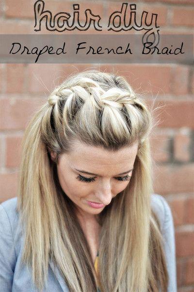The Shine Project: Hair DIY: Drape French Braid #braid