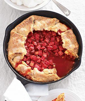 Raspberry-Rhubarb Tart- Real Simple