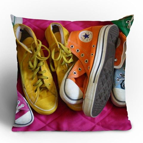 My Shoes Throw Pillow, $69