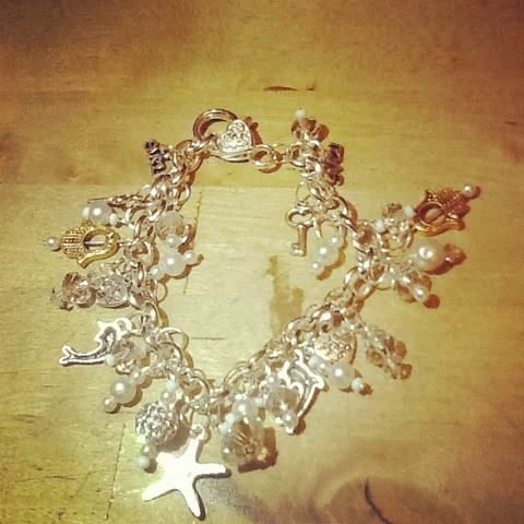 Handmade charm bracelet by me!